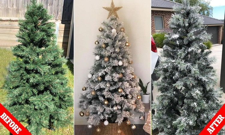 Mum Reveals Her Hack For Creating Target Snowy Aspen Christmas Tree Daily Mail Christmas Tree Christmas Tree Target Tree