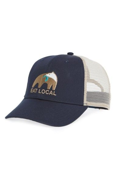4a800e7a38 PATAGONIA Eat Local Upstream Trucker Hat.  patagonia