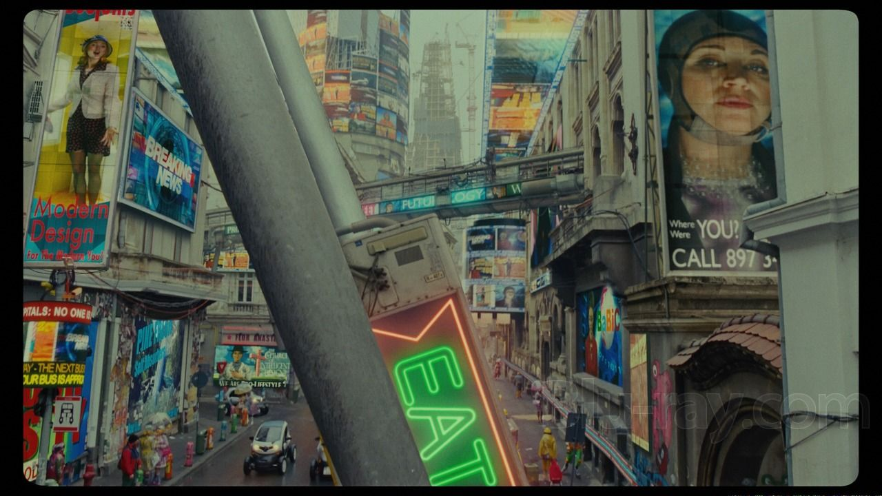 London street in Terry Gilliam's The Zero Theorem
