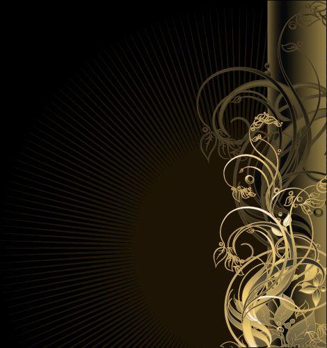 gold floral vector backgrounds art Graphic design art