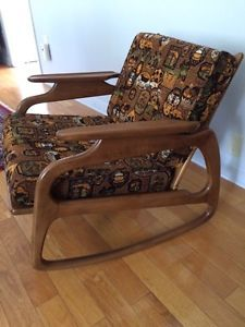 Rare teak vintage rocking chair, Adrian Pearsall West Island Greater Montréal image 1