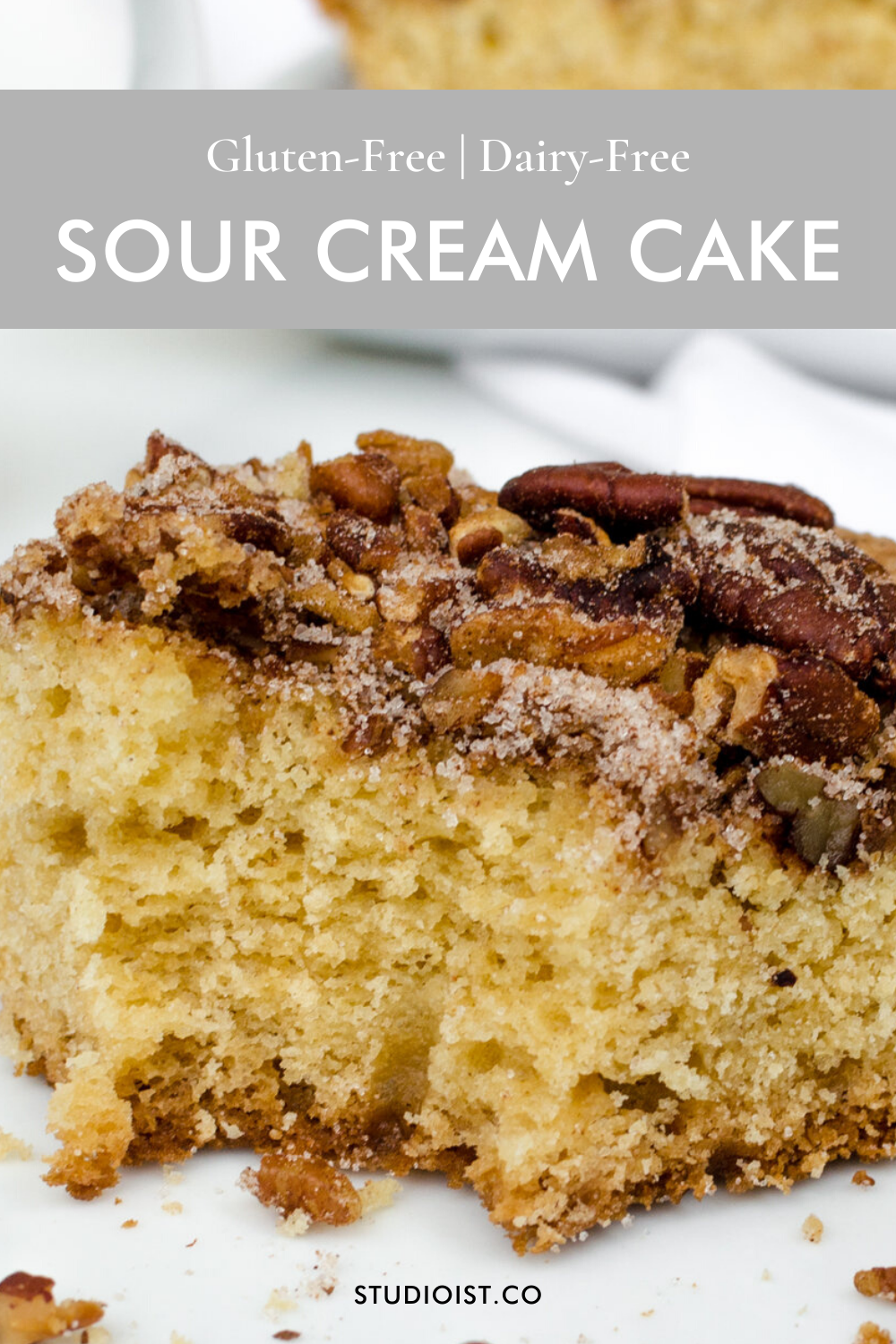 Gluten Free Dairy Free Sour Cream Cake Studioist In 2020 Sour Cream Cake Sour Cream Recipes Healthy Dessert Recipes Easy