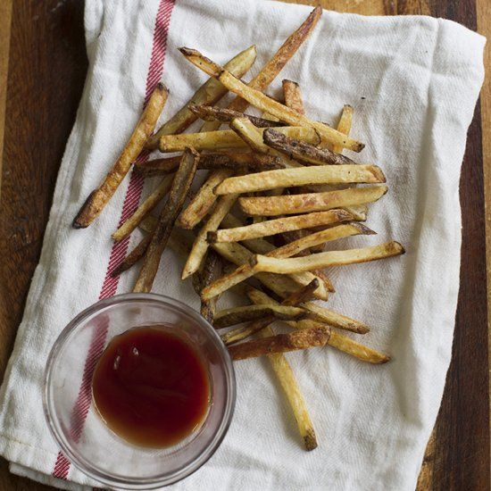 Finally!  Baked french fries that don't come out of the oven soggy or limp!