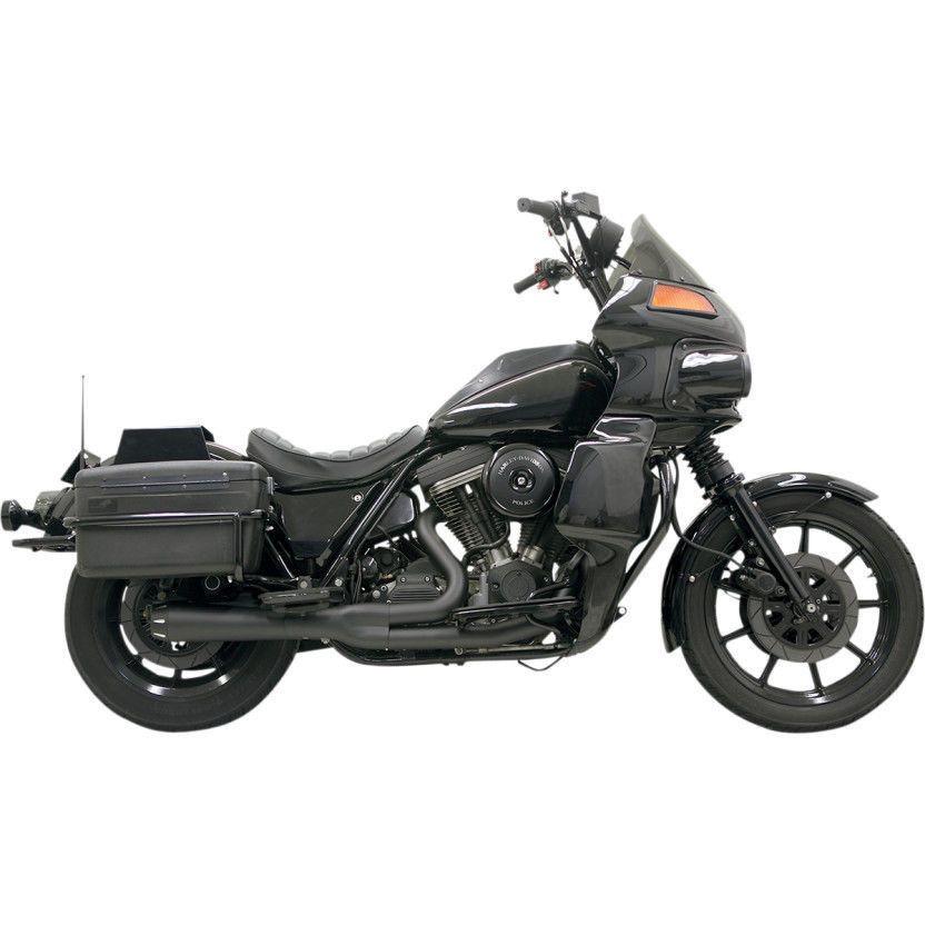 Bassani Road Rage 2Into1 Short Megaphone Exhaust Black