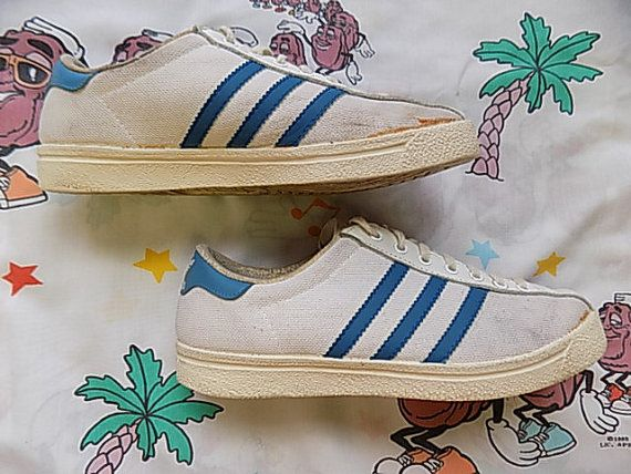 Vintage 70's Adidas Love Set Sneakers, size women's 7.5 made