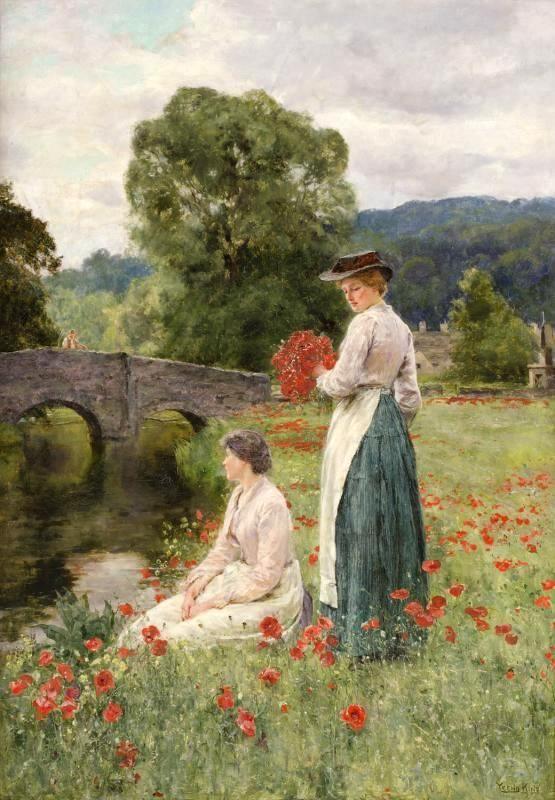 Genremalerei berühmt  The Trespassers, by Henry John Yeend King (English, 1855-1924 ...