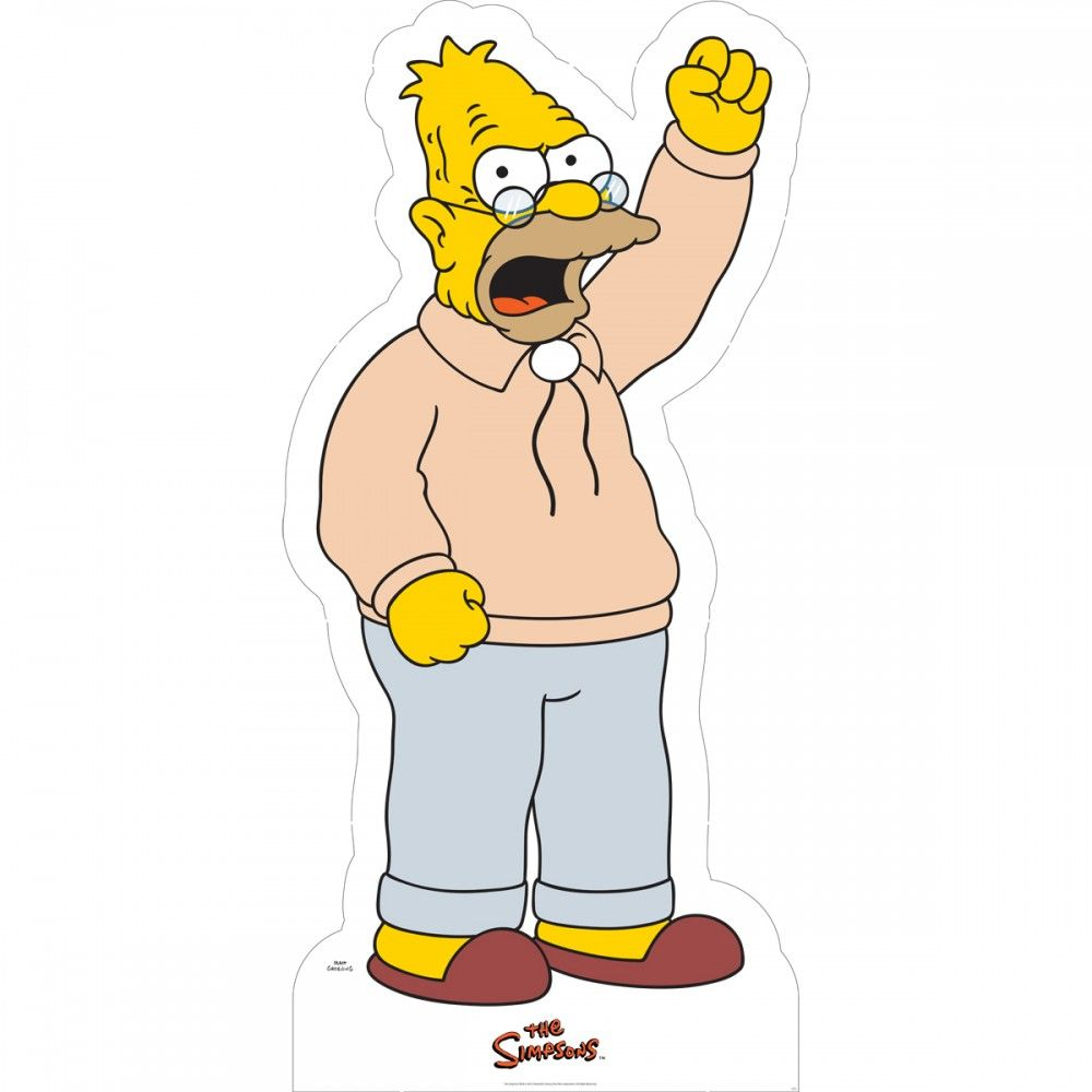 The Simpsons Grampa Abraham Cardboard Stand-Up | George | Pinterest
