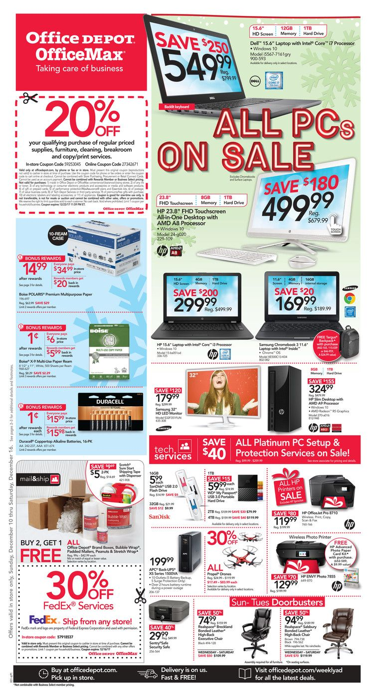 Office Depot  Officemax Ad December      HttpWww