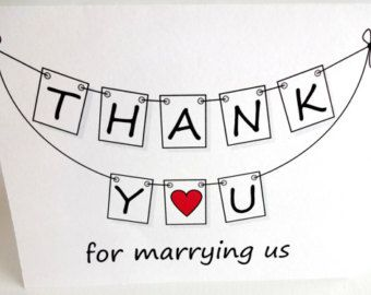 Wedding Officiant Minister Thank You Card Dream Wedding