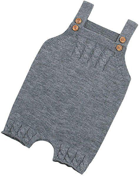 ce9b860d0725 Amazon.com  Voberry Newborn Baby Knit Overalls Toddler Boy Girl Knit ...
