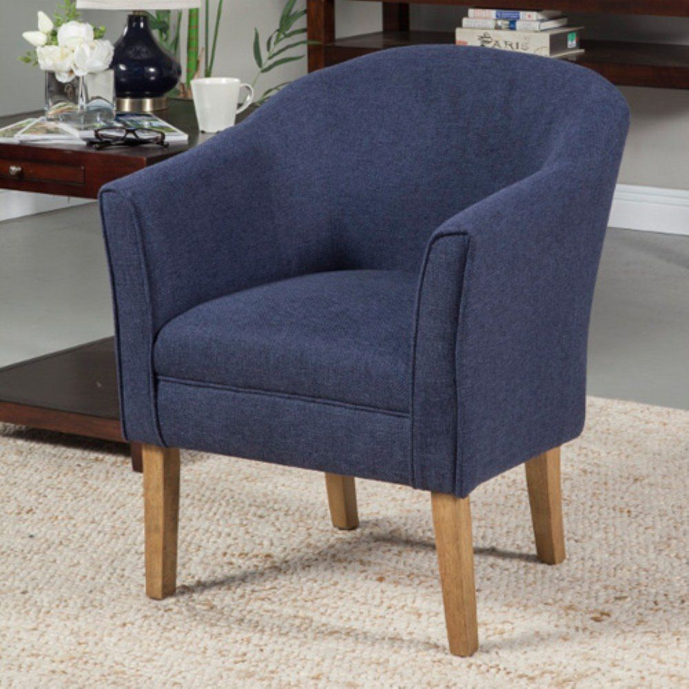 Inexpensive Fabric Club Chair Navy