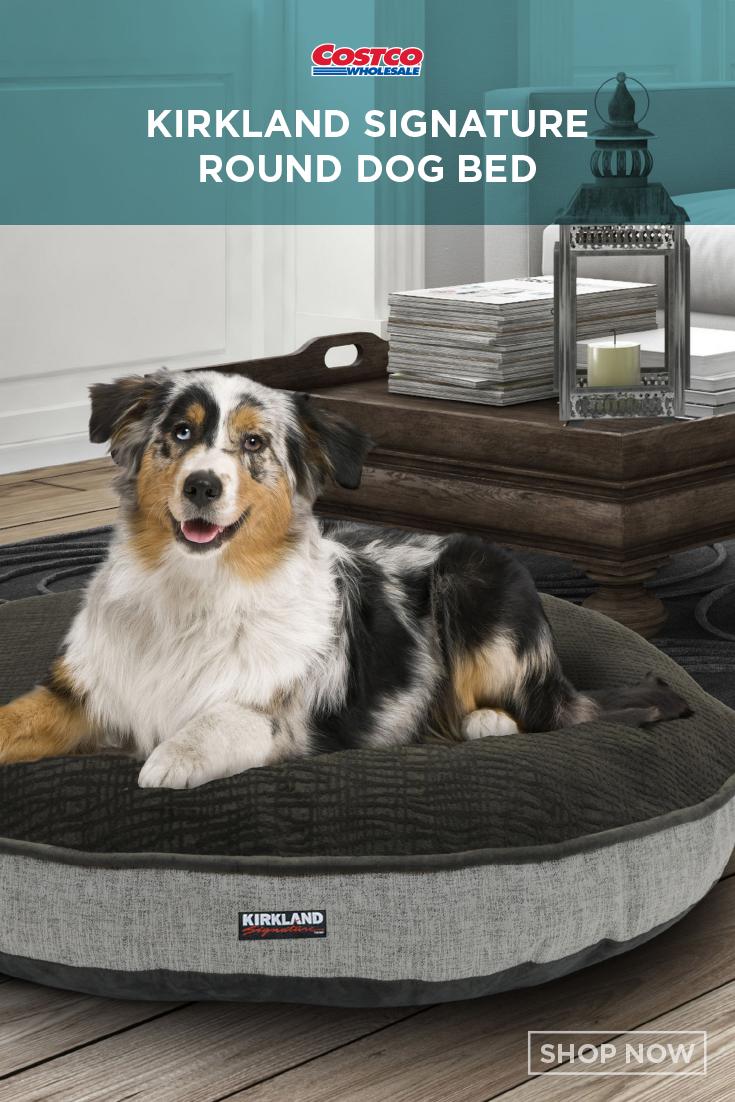 Kirkland Signature 42 Round Dog Bed Gray Storm Textured Faux Suede Round Dog Bed Dog Bed Luxury Pet Beds