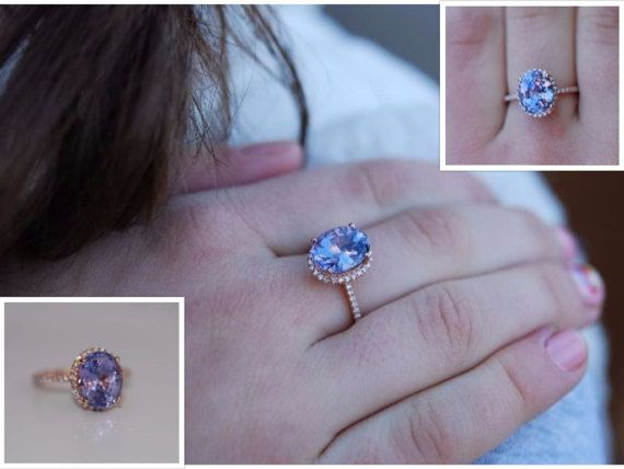 cushion pin gold rose champagne engagement rings ring sapphire lavender diamond peach