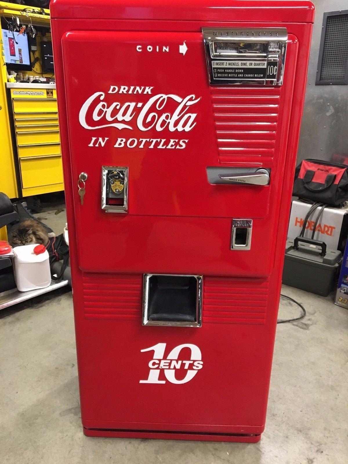 vintage coke machine restored westinghouse wc 42 t ebay vending machines pinterest coke. Black Bedroom Furniture Sets. Home Design Ideas
