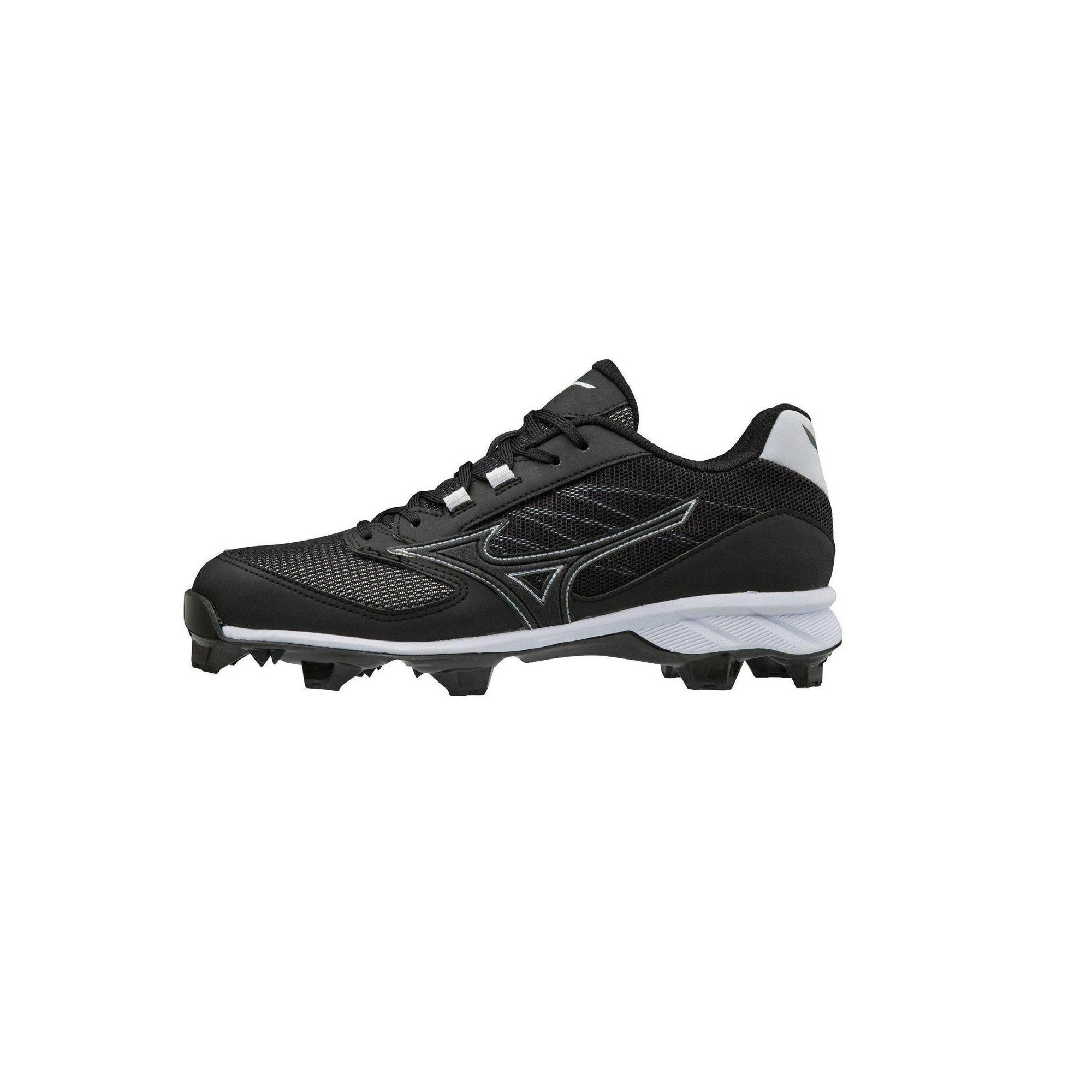2accbc0a6 Mizuno Mens Baseball Shoes - 9-Spike Advanced Dominant Tpu Mens Molded Baseball  Cleat - 320566 Size 8 Black-White (9000)