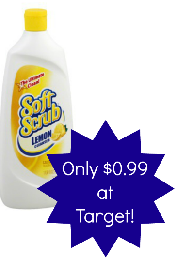 Soft Scrub cleaner is only $0 99 at Target with these stacking