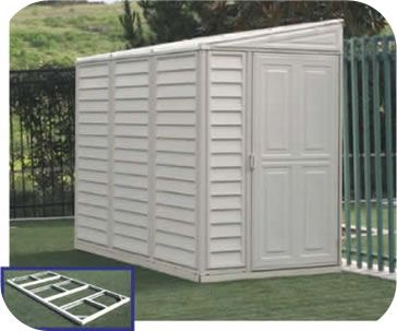 duramax x stronglasting sidemate vinyl storage shed with foundation kit category duramax vinyl sheds - Garden Sheds Vinyl