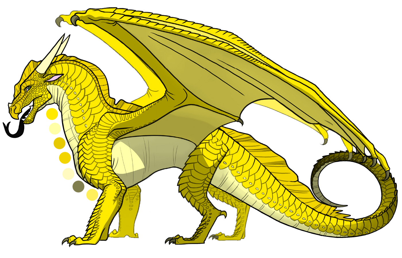 Sunny Is A Female Sandwing Nightwing Hybrid With Tawny Gold Scales Golden Wings And Mossy Gray Green Eyes Wings Of Fire Dragons Wings Of Fire Dragon Wings