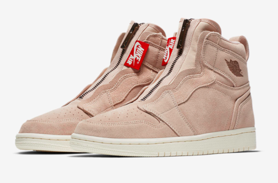 88dadb70abf9 Release Date  Air Jordan 1 WMNS High Zip Particle Beige The Air Jordan 1  WMNS
