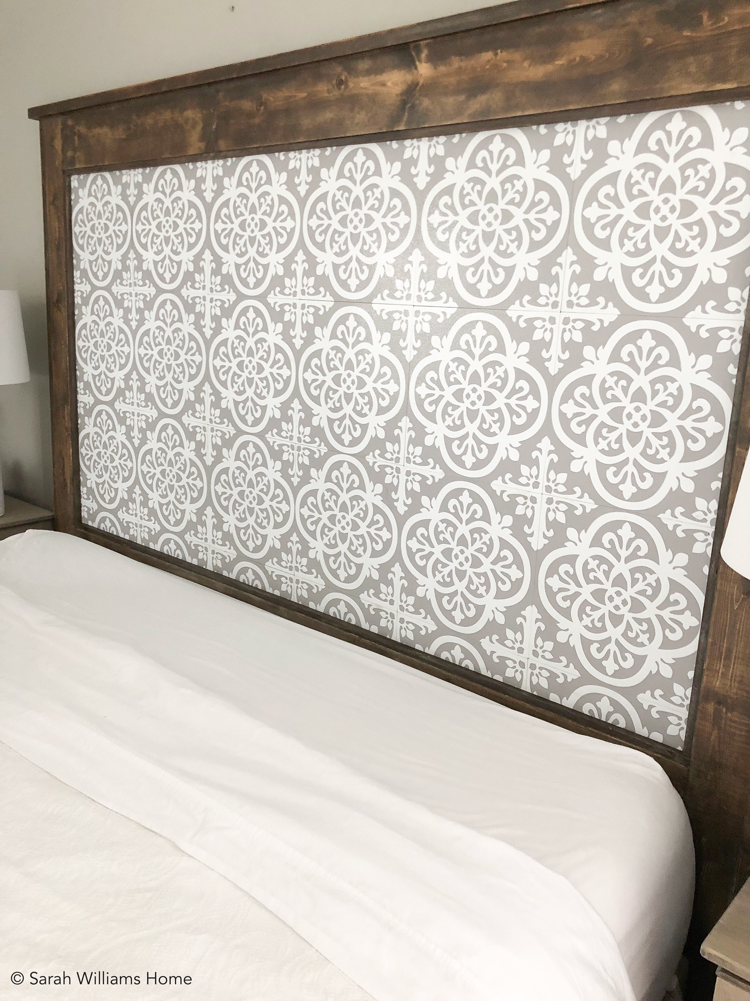 Diy King Sized Headboard With Peel And Stick Tile Diy King Size Headboard Diy King Headboard Stick On Tiles
