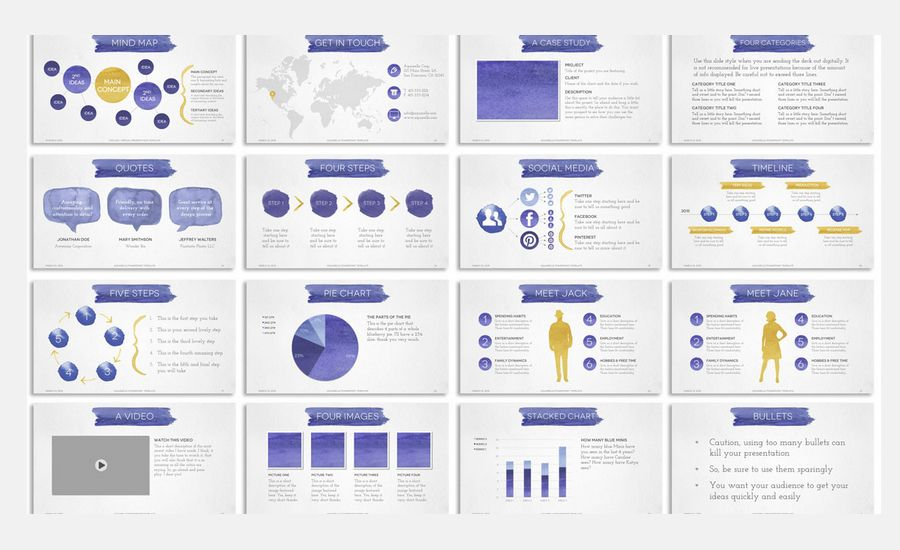 Slides deck graphic google search powerpoint pinterest add some juicy watercolor goodness to your digital designs with the aquarelle powerpoint presentation template you get 4 gorgeous versions toneelgroepblik Images