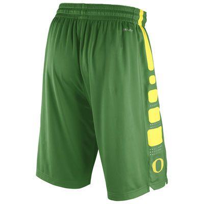 72a74230abcf Men s Nike Apple Green Oregon Ducks Practice Elite Stripe Performance Shorts