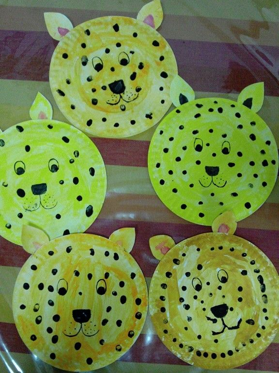 Beautiful paper plate leopard mask by kids & Beautiful paper plate leopard mask by kids | Crafts | Pinterest ...