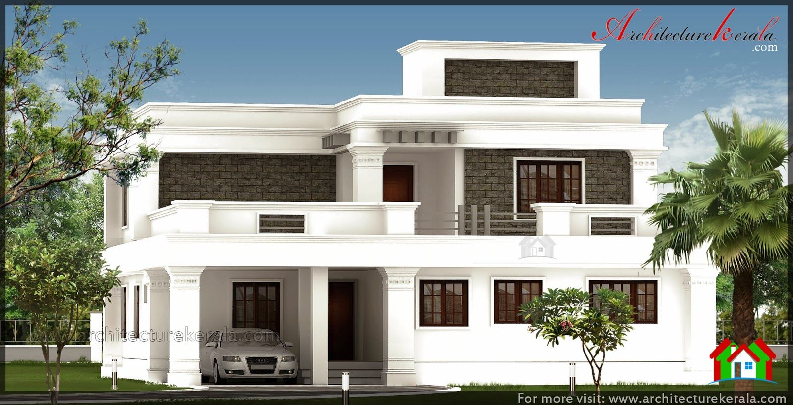 Pillar Design For House Corbel Style House Elevation With Big Pillar 2500 Square