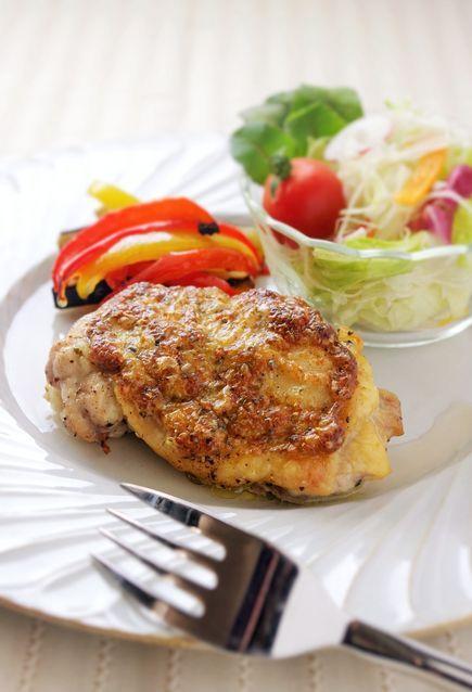 メインも野菜もオーブンで!チキンのマスタードマヨネーズ焼き : 育児+おいしいご飯