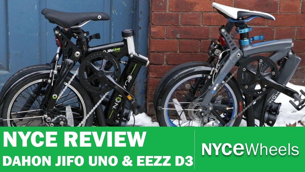 Dahon Jifo Uno And Eezz D3 Comparison Compact Folding Bikes