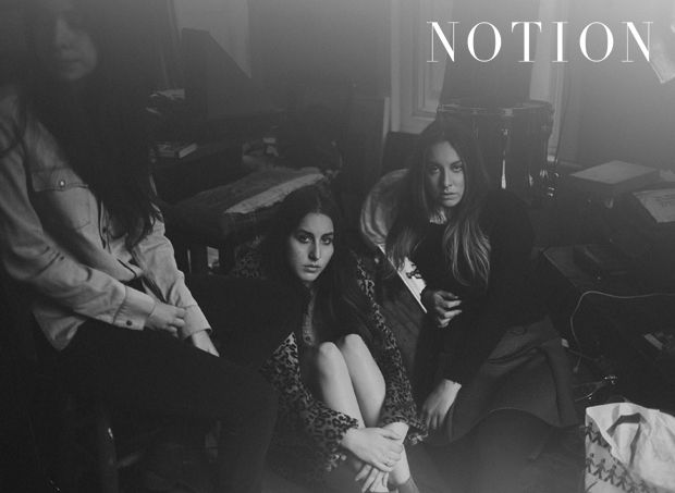 Photographed by Mathias Sterner, Haim featured in Issue 64 of Notion Magazine. Here Danielle wears Levi's and Acne and Alana wears Denim & Supply Ralph Lauren. #HAIM