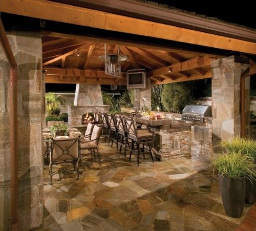 Bringing The Outdoors In Kitchen Dining Great Room: Outdoor Kitchens, Outdoor Living Concepts, Backyard Patios