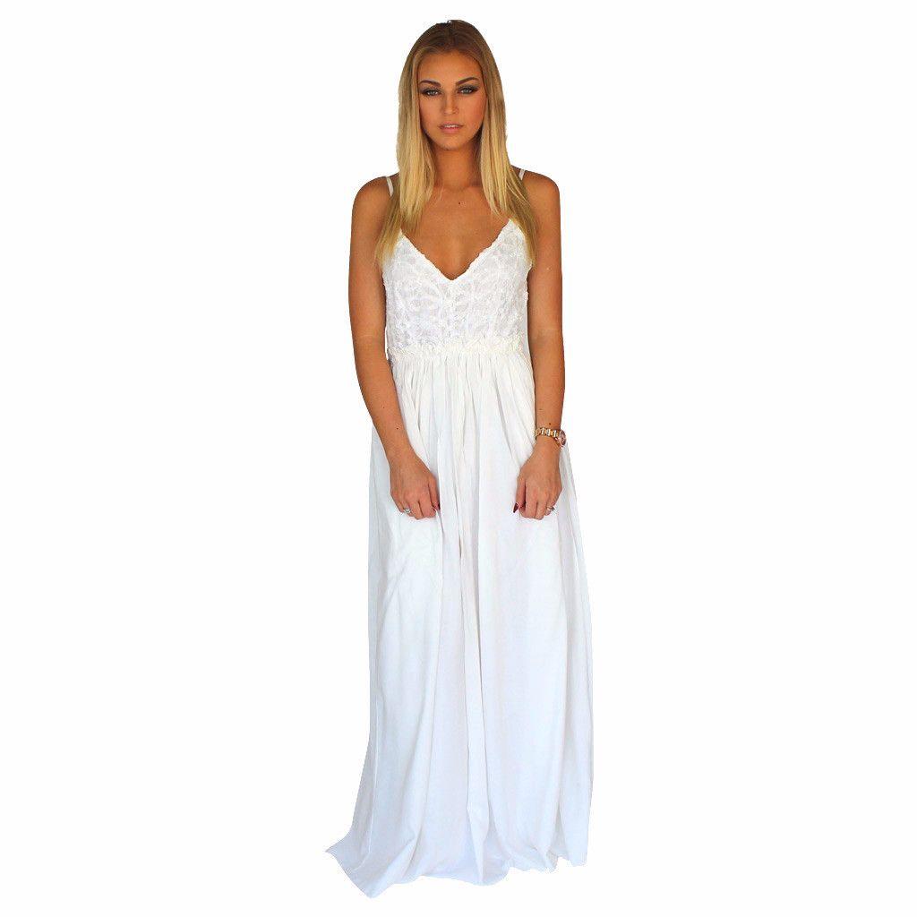 White lace front crochet accent open back maxi dress white lace white lace front crochet accent open back maxi dress ombrellifo Image collections
