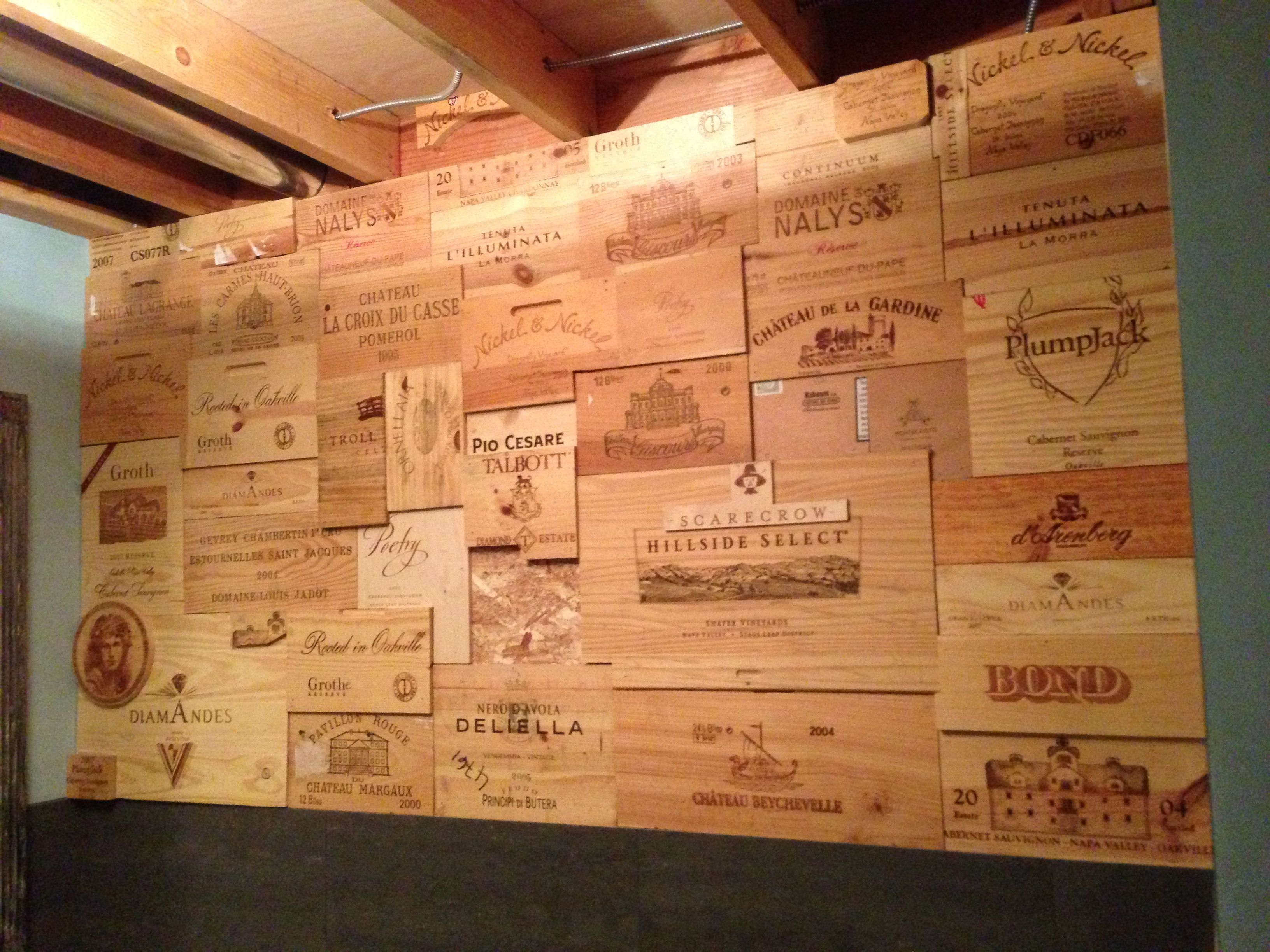 Wine Crate Wall Design Buy Wine Panels For A Similar