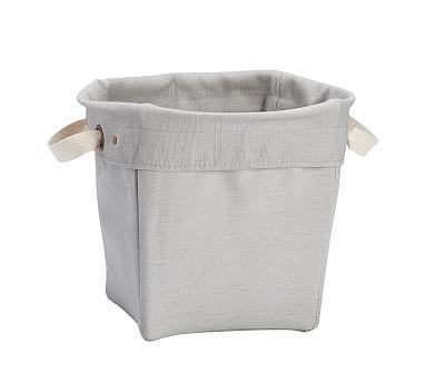 Fulton Canvas Storage   Medium Bucket, Gray