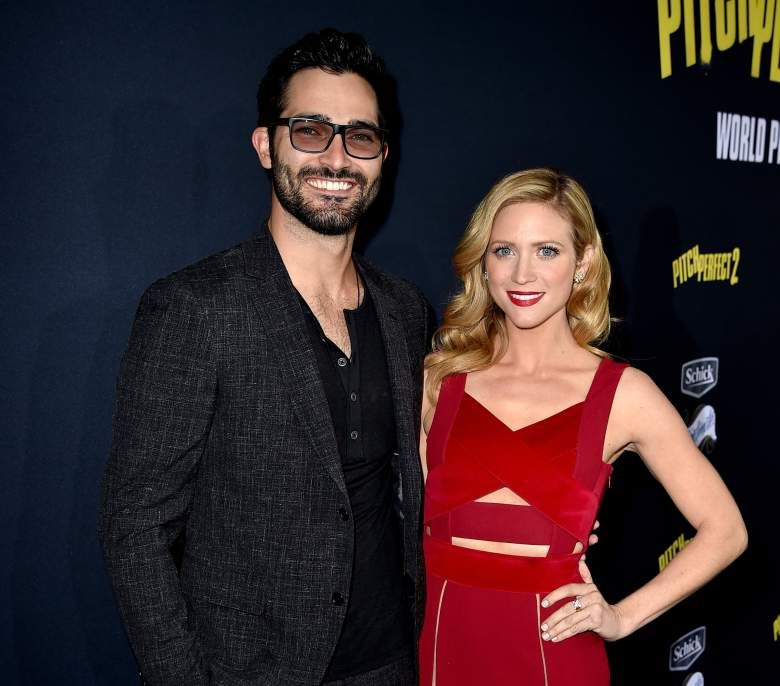 Brittany Snow with ex-boyfriend Tyler Hoechlin at the premiere of Pitch Perfect 2