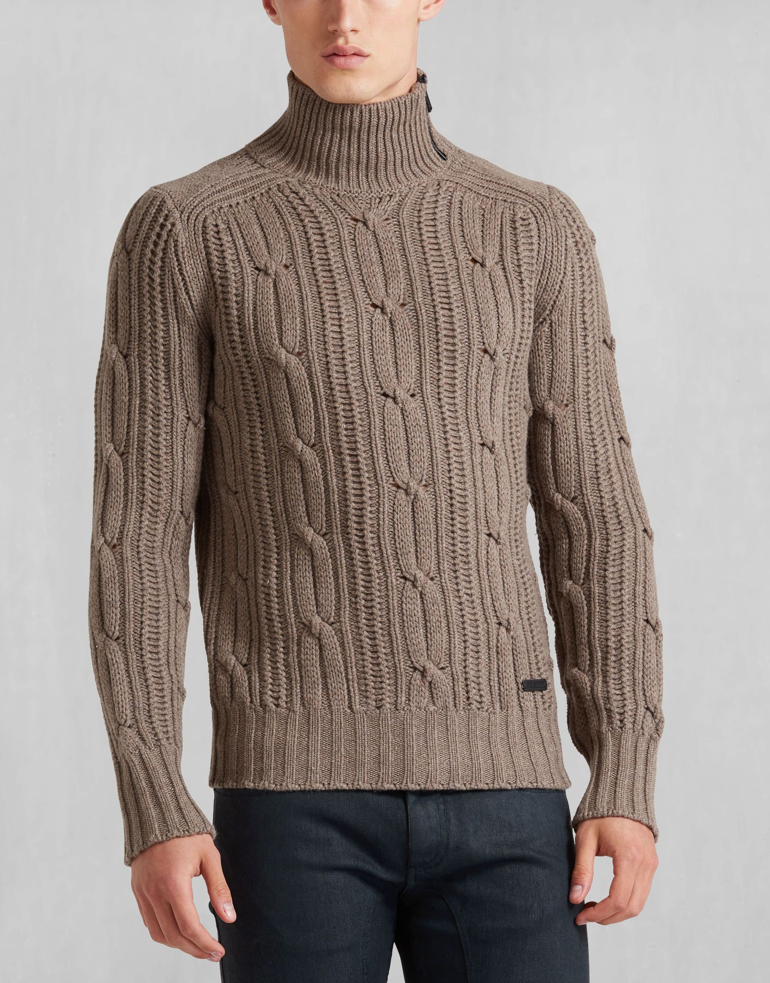 11b8b8470609 Easterton Sweater Ls - Bark Knitwear