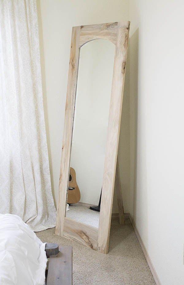 How To Arched Floor Mirror With Freestanding Option Hazel Darling Diy Floor Mirror Diy Standing Mirror Floor Mirror