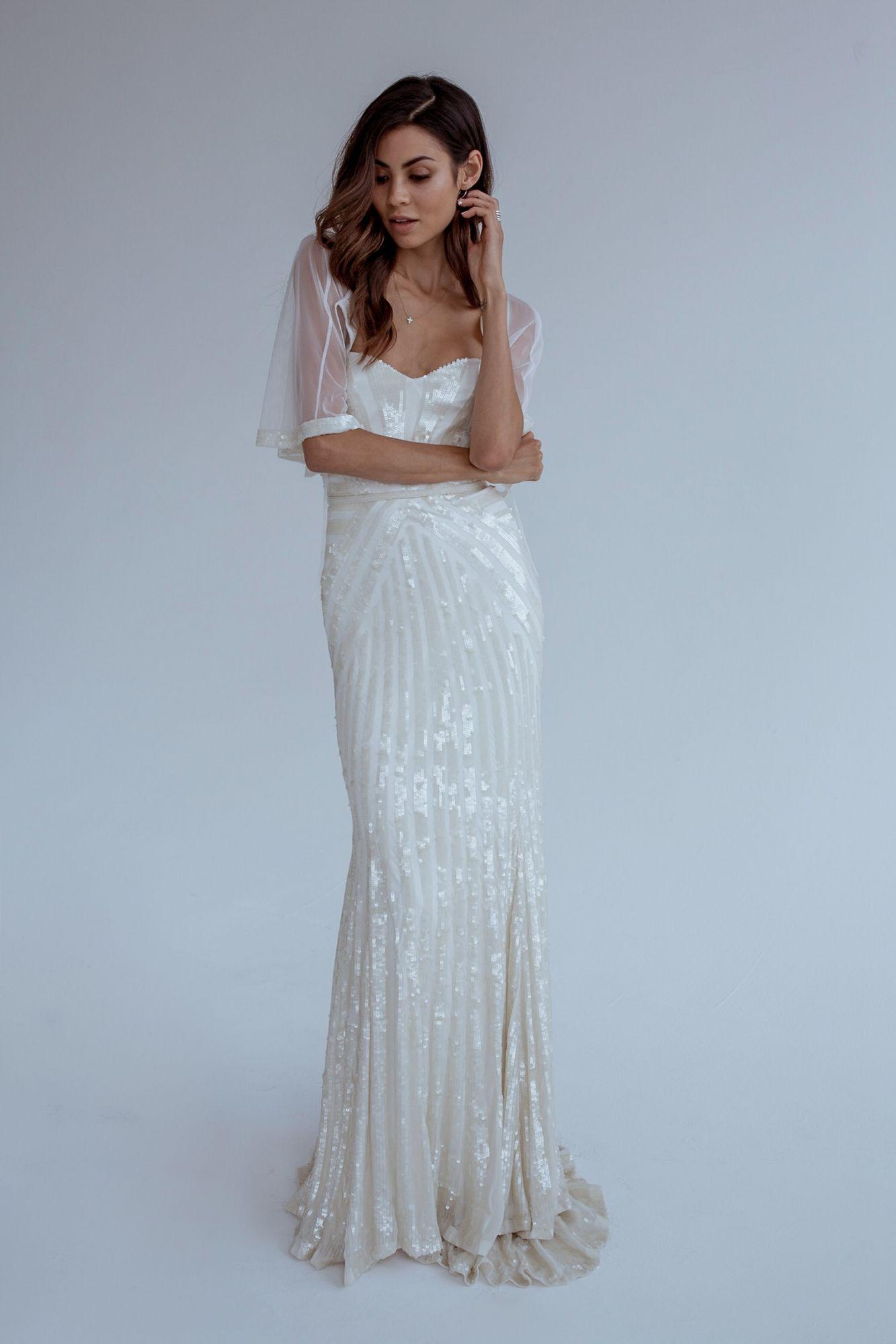Teal and white wedding dresses  Karen Willis Holmes  Layla  Wedding dresses of   Pinterest
