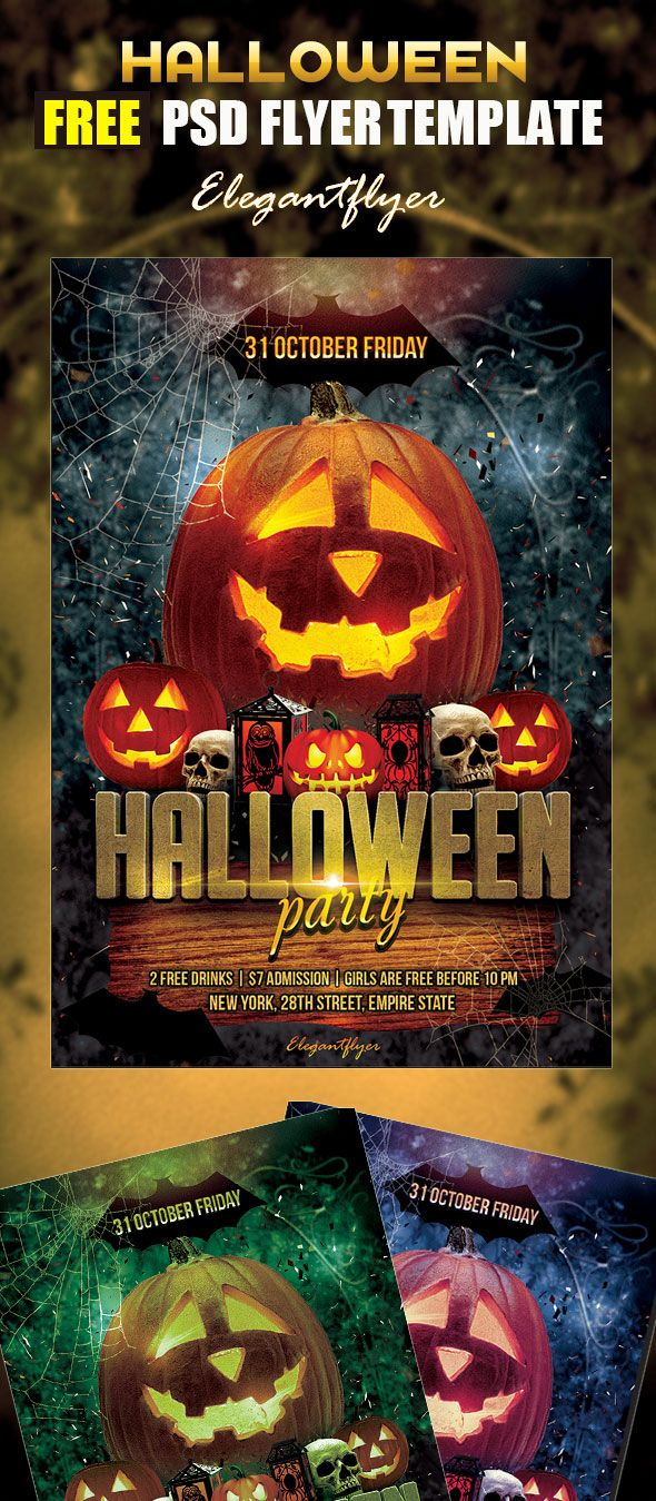 FreeHalloweenPartyFlyerPsdTemplate  Restaurant  Coffee