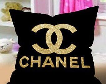 Chanel Inspired Throw Pillow Cover Chanel Pillow Couch Pillow