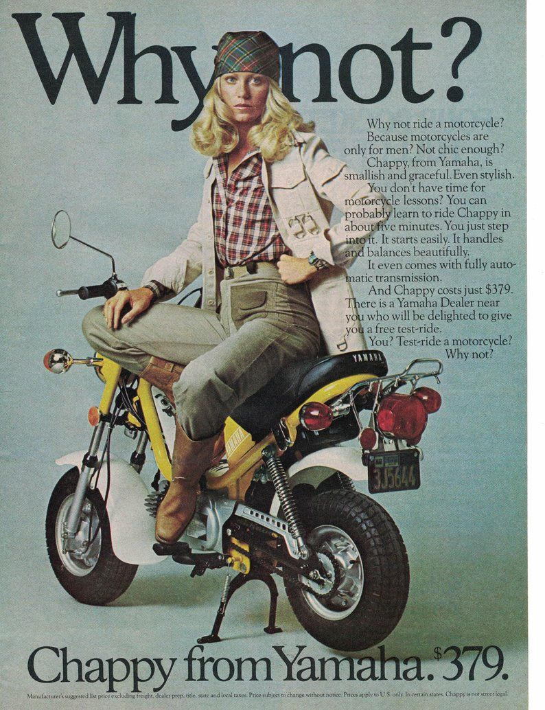Yamaha Motorcycle Print Chappy From Yamaha 1976 Motorcycle Etsy Yamaha Motorcycle Yamaha Motorcycle Wall Art