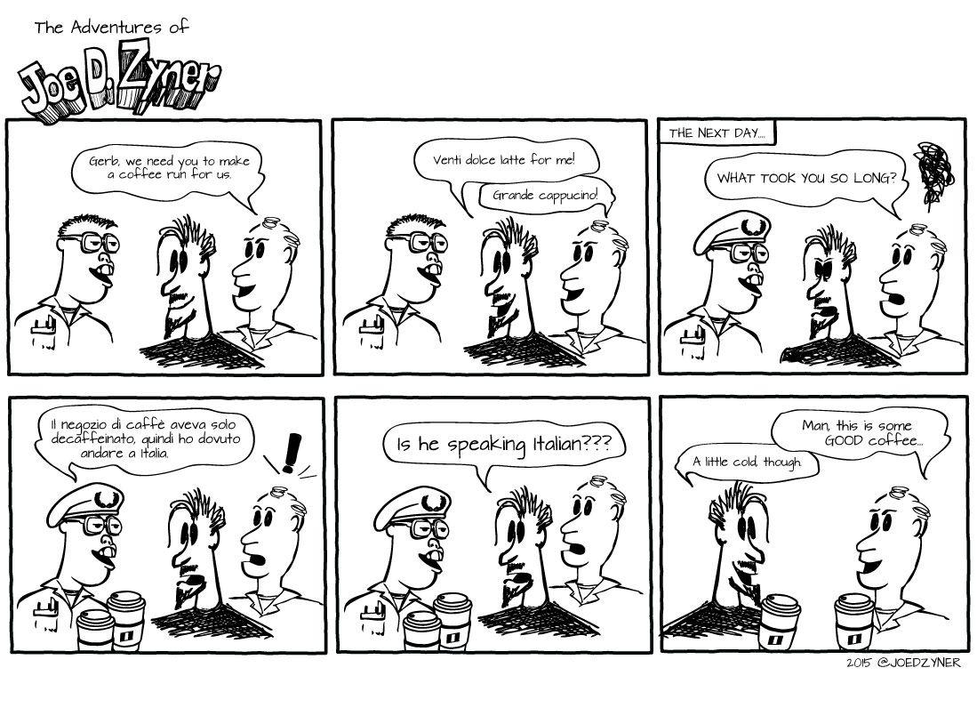 JDZ 07/13/15 - The Long Coffee Run