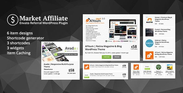 Download Free Market Affiliate Envato Referral Wordpress