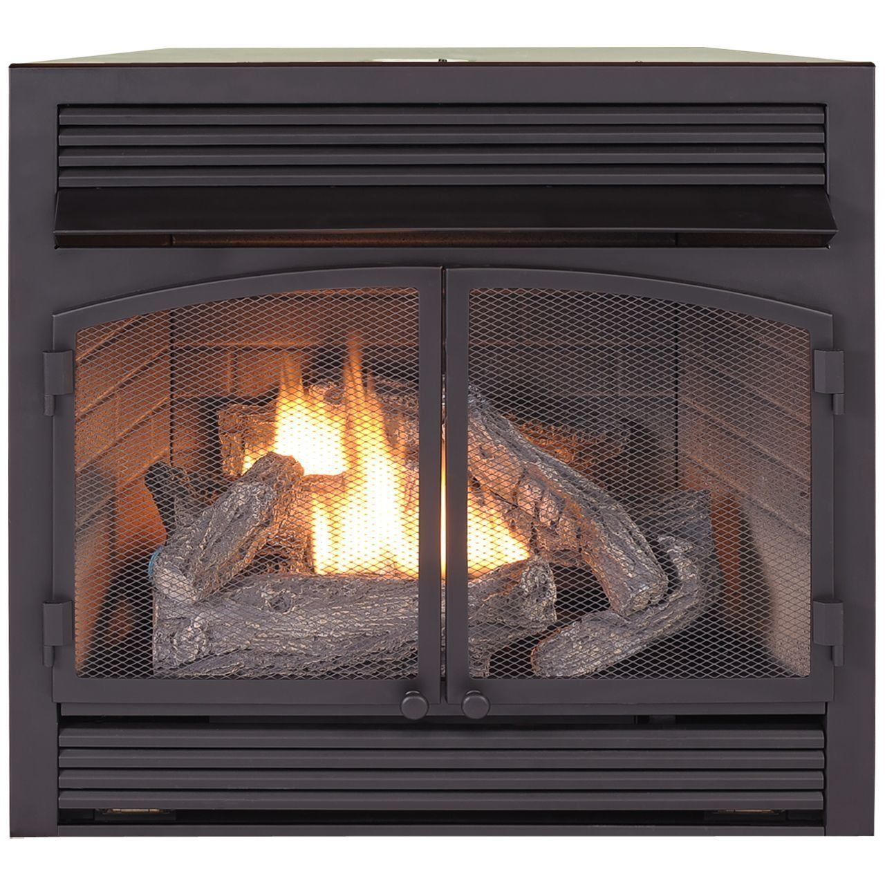 dual fuel ventless natural gas propane fireplace insert for the