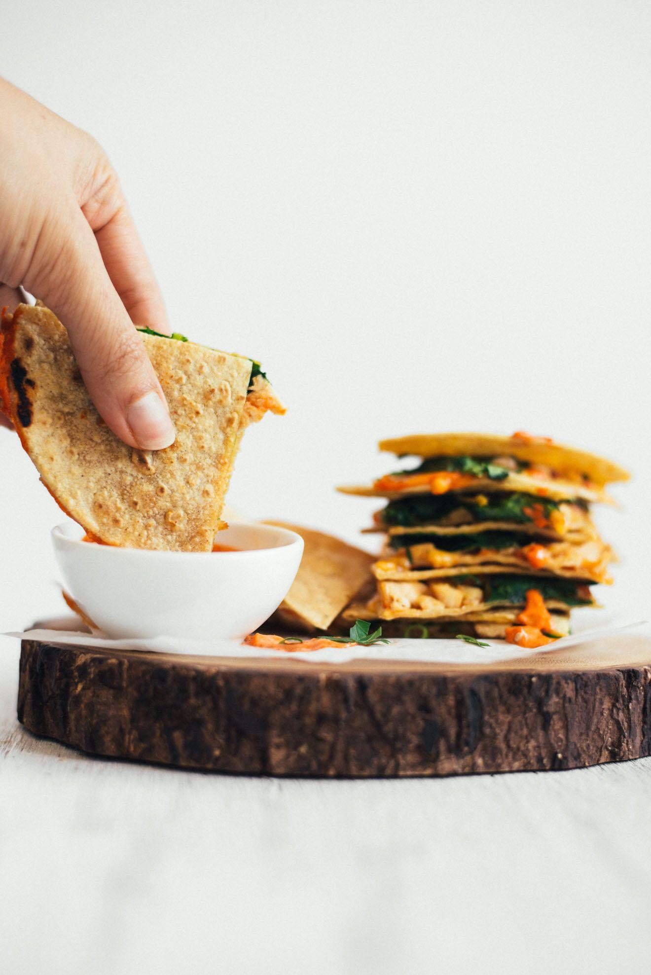 Chicken Quesadillas with Gochujang Sauce Recipe