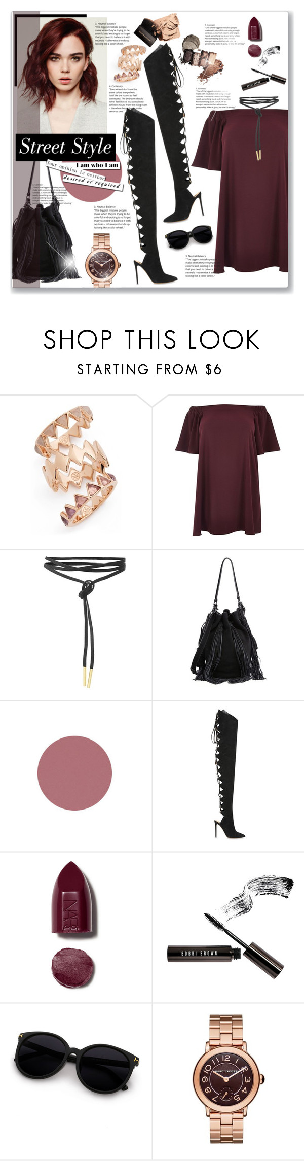 """""""Без названия #326"""" by editaeduardovna ❤ liked on Polyvore featuring Tory Burch, River Island, Loeffler Randall, Alexandre Vauthier, NARS Cosmetics, Bobbi Brown Cosmetics, Marc Jacobs, Boots, suede and redhair"""