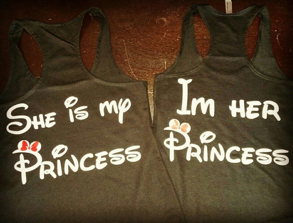 29e652f55 LGBT Lesbian She is my Princess I'm her Princess tank tops, Married With  Mickey