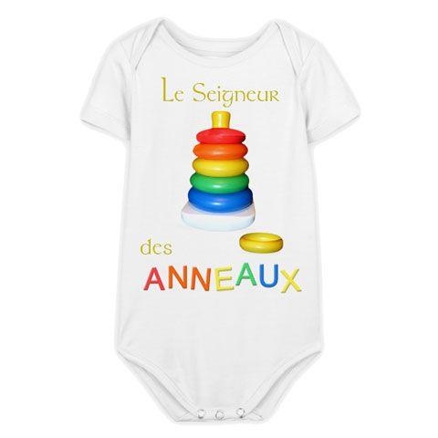a805472ad3a8c Le Seigneur des Anneaux - Body Bébé manches courtes - Coton biologique -  Blanc  body  bébé  geek  vêtement  SDA  lordoftherings