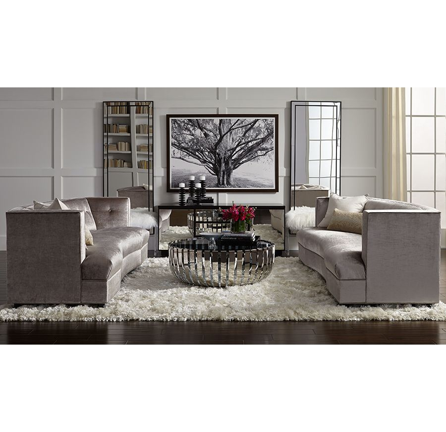 bobs living room sets%0A DUMONT SOFA WITH BUTTONS u   cBR u   e available online and in stores    Orange Grove  Groove   Pinterest   Living rooms  Chandeliers and Room